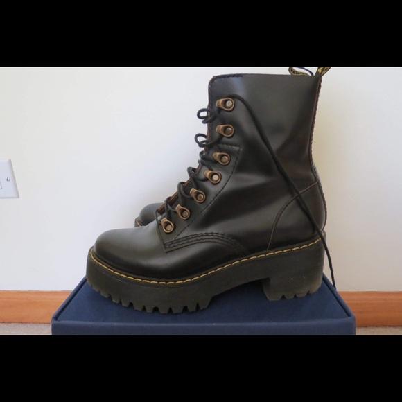 bfe394fe73 Dr. Martens Shoes | Dr Martens Leona 7hook Black Boots | Poshmark